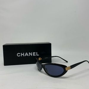 CHANEL CC Mini Vintage Sunglasses 5027 Black